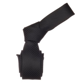 Republic Men&#39;s Solid Black Microfiber Skinny Neck Tie
