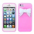 MYBAT Light Pink/ White Bow Case for Apple iPhone 5