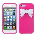 MYBAT Hot Pink/ White Bow Case for Apple iPhone 5