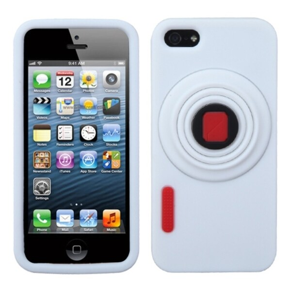INSTEN White Camera Style Case Cover for Apple iPhone 5
