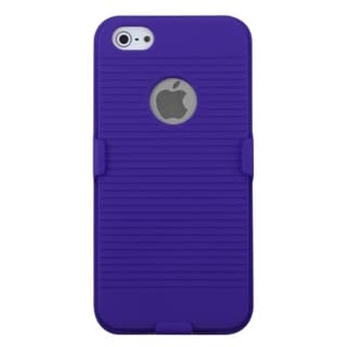 MYBAT Blue Hybrid Holster Case for Apple iPhone 5
