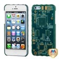 MYBAT Blue Sides/ Blue Circuit Board Case for Apple iPhone 5