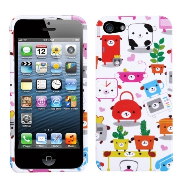 INSTEN Dog Lifestyle Phone Case Cover for Apple iPhone 5