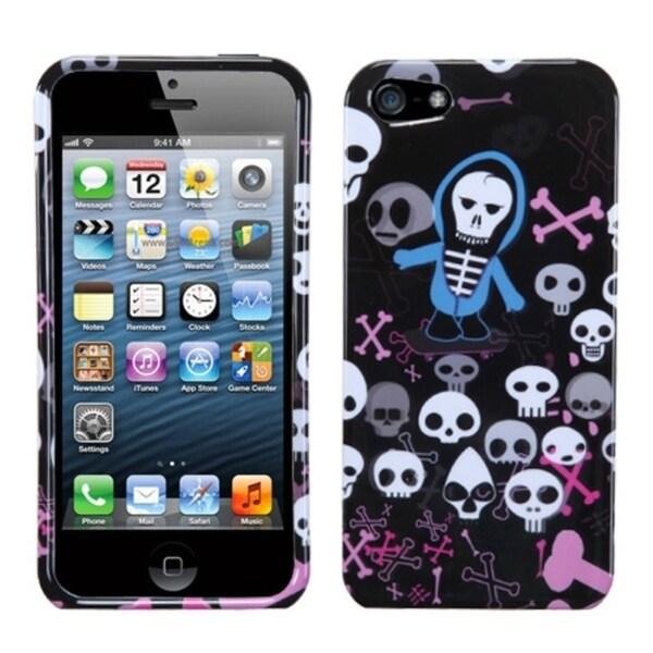 INSTEN Swag Skulls Phone Case Cover for Apple iPhone 5
