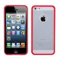MYBAT Clear/ Red Gummy Case for Apple iPhone 5