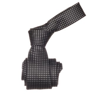 Republic Men's Black Dotted Microfiber Neck Tie