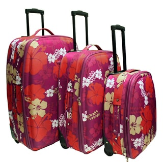Chicane Floral 3-piece Luggage Set
