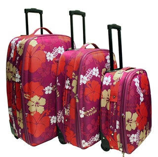 Chicane Floral 3-piece Luggage Set
