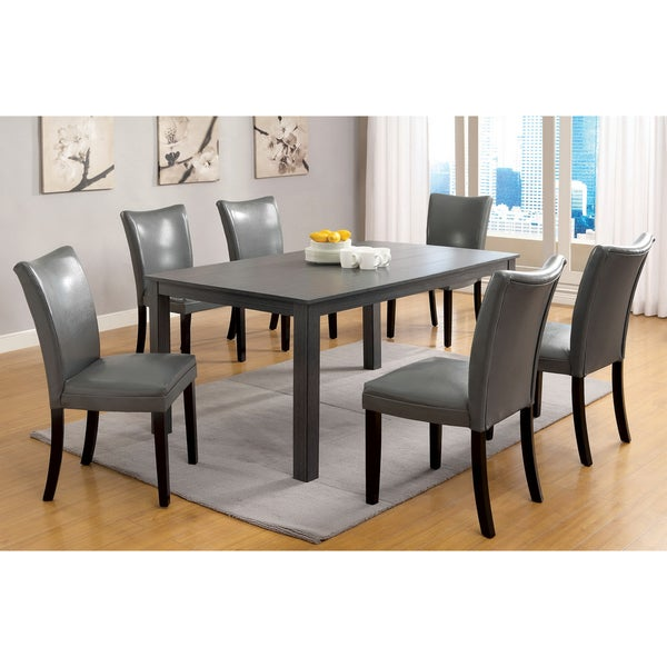 Of America Belton Gray 60 Inch Contemporary Rectangular Dining Table