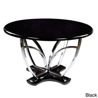 Of America 39 Zelby 39 48 Inch Round High Gloss Contemporary Dining T