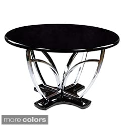 'Zelby' 48-inch Round High-gloss Contemporary Dining Table