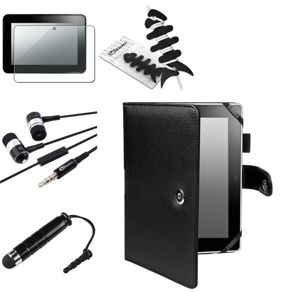 BasAcc Case/ Stylus/ Headset for Amazon Kindle Fire HD 8.9-inch