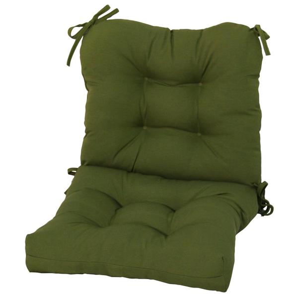 Outdoor Summerside Green Seat/ Back Combo Cushion