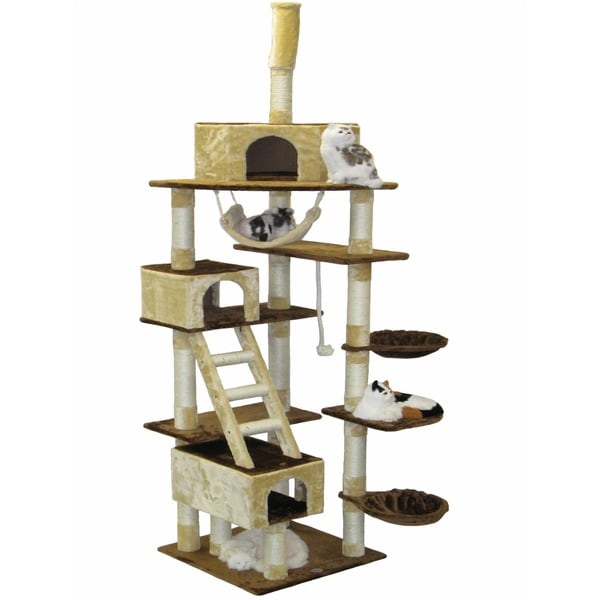 Go Pet Club Beige/ Brown 108-inch Cat Tree Condo