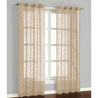 Zambia Natural 84-inch Curtain Panel Pair