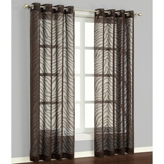 'Zambia' Chocolate 84-inch Curtain Panel Pair
