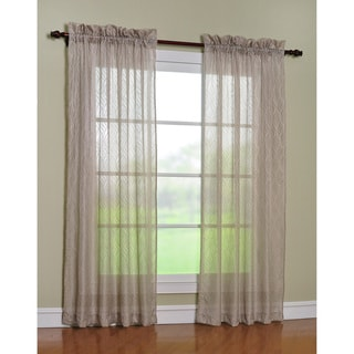 'Cleopatra' Taupe 84-inch Curtain Panel Pair