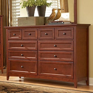 Simple Shaker 10-drawer Dresser Solid Wood
