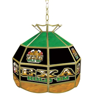 Texas Hold 'em Stained Glass 16-inch Tiffany Lamp