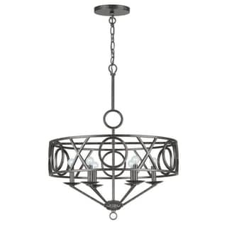 Crystorama Odette Collection 6-light English Bronze Chandelier