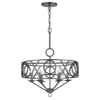 Odette 6-light Chandelier in English Bronze