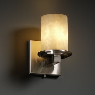 Flat Rim Cylinder Brushed Nickel 1-light Wall Sconce