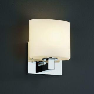 Polished Oval Chrome 1-light Wall Sconce