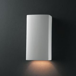 Justice Design Group Small Rectangle Ceramic Bisque 1-light Wall Sconce