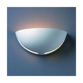 Small Cosmos Ceramic Bisque 1-light Wall Sconce
