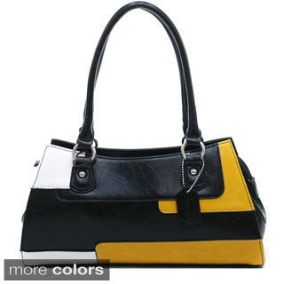Dasein Women's Retro Color-block Shoulder Bag