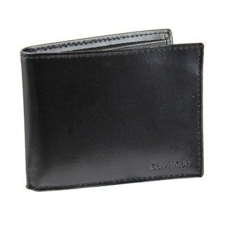 Calvin Klein Men's Bi-fold Leather Wallet and Passcase
