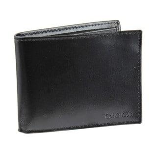 Calvin Klein Men's Bi-fold Leather Wallet and Passcase