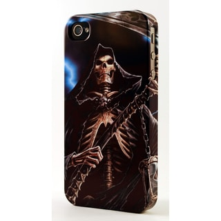 Skeletal Grim Reaper and Sickel Dimensional Plastic iPhone Case