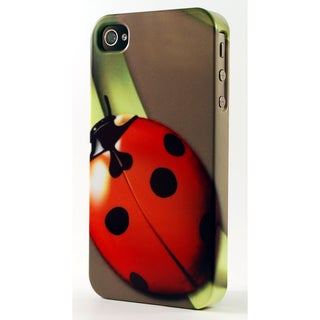 Red Lady Bug On Green Blade Of Grass Dimensional Plastic iPhone Case