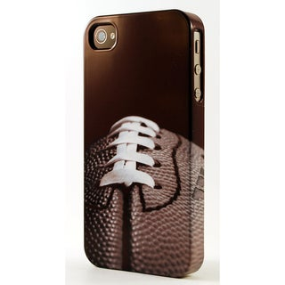 Black and White Football Pigskin Close Up Dimensional Plastic iPhone Case