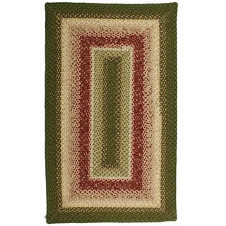 Lotus Green Cotton Braided Rug (2'3 x 3'9)
