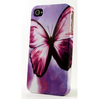 Purple Butterfly Dimensional Plastic iPhone Case
