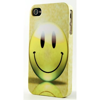Yellow Smiling Face Dimensional Plastic iPhone Case