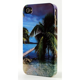 Palm Tree On Beach Dimensional Plastic iPhone Case
