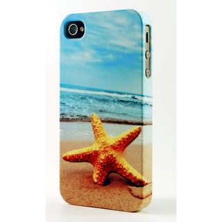 Star Fish On Sandy Beach Dimensional Plastic iPhone Case