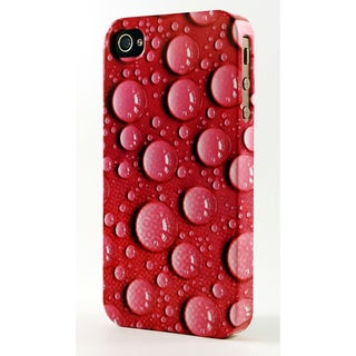 Water Drops On Pink Background Dimensional Plastic iPhone Case