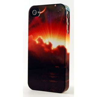 Sunrise Through Clouds Dimensional Plastic iPhone Case