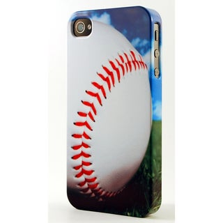Close Up Of Baseball On Grass Dimensional Plastic iPhone Case