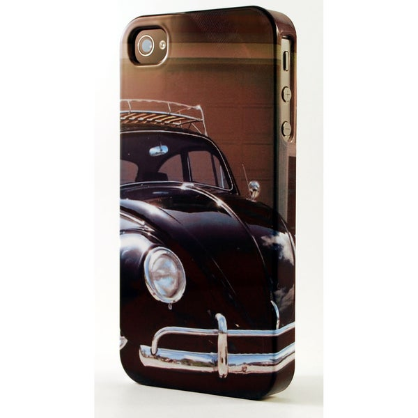 Classic VW Beetle With Luggage Rack Dimensional Plastic iPhone Case