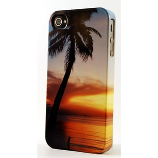 Palm Tree At Sunset Dimensional Plastic iPhone Case