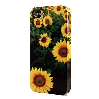 Bright Yellow Field Of Sunflowers Dimensional Plastic iPhone Case