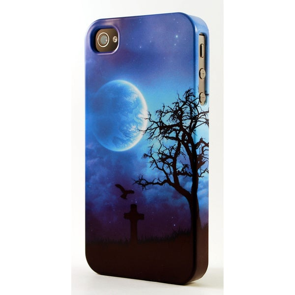 Moonlite Graveyard Scene 3D Plastic iPhone Case