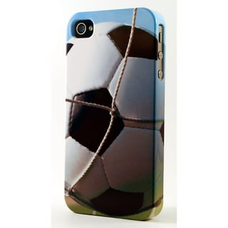 Soccer Ball In Net Dimensional Plastic iPhone Case