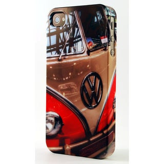 Classic Volkswagen VW Red and White Microbus Dimensional Plastic iPhone Case