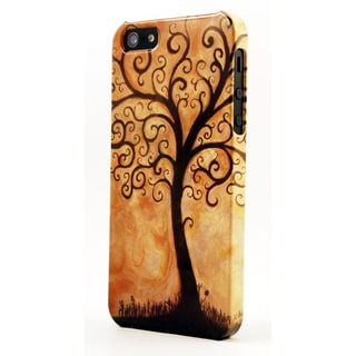Brown Tree Of Life Dimensional Plastic iPhone Case